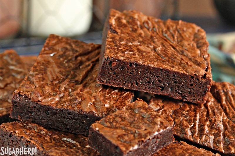 Ultimate Fudgy Chocolate Brownies | From SugarHero.com