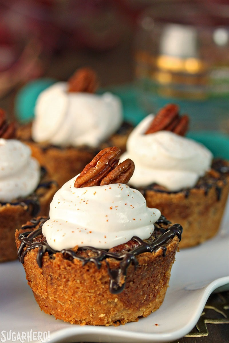 Mini Pecan Pies | From SugarHero.com