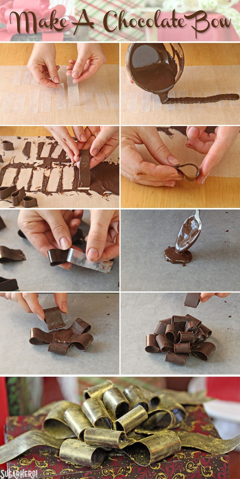 How to Make Chocolate Bows | From SugarHero.com