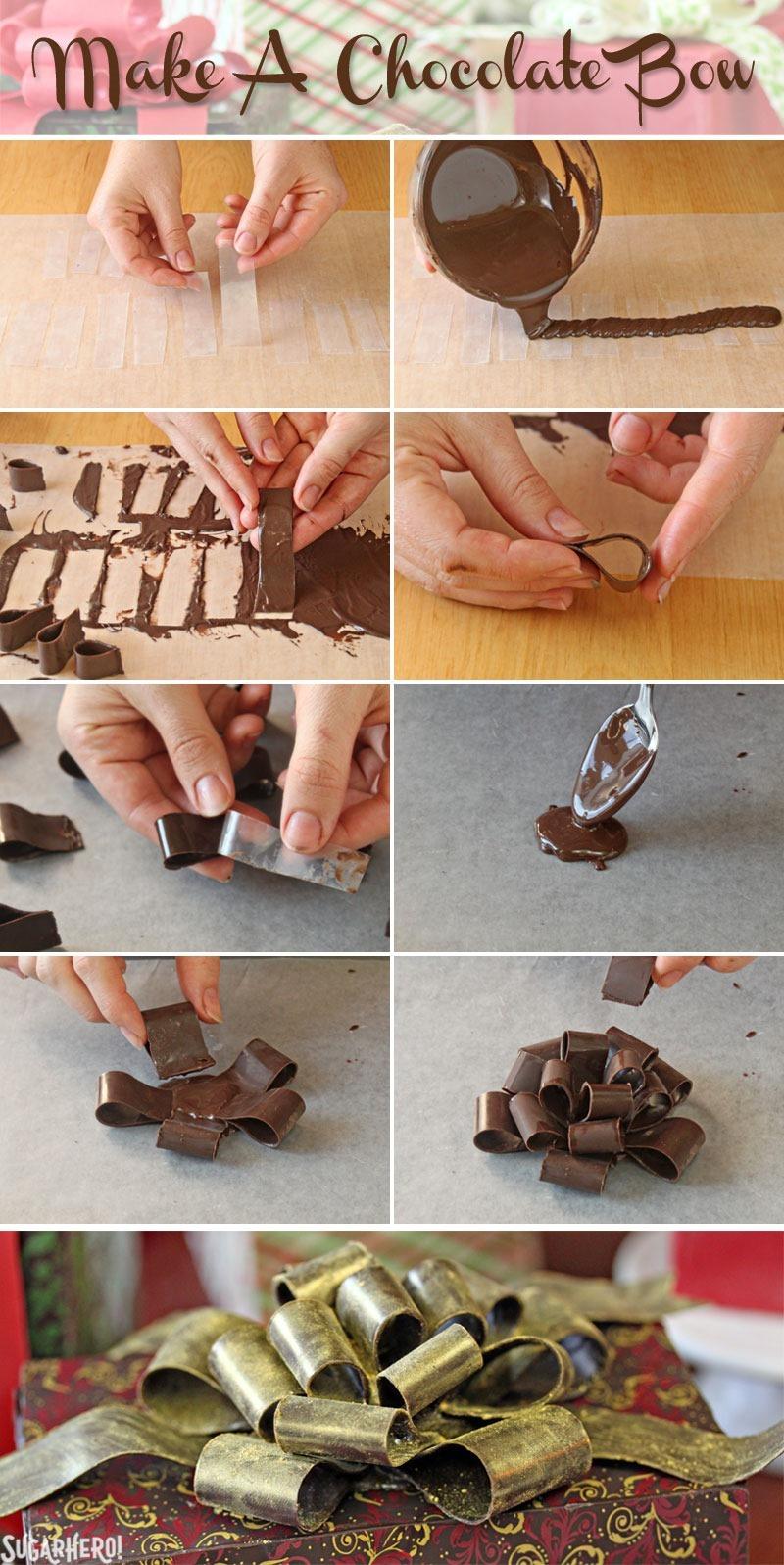 How to Make Chocolate Bows | From SugarHero.com