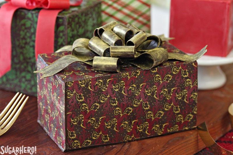 Chocolate-Wrapped Present Cakes   From SugarHero.com