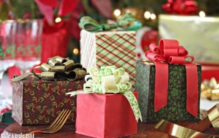 Chocolate Wrapped Present Cakes | From SugarHero.com