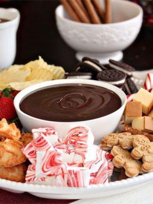 Double Chocolate Fondue | From SugarHero.com