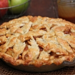 Salted Caramel Apple Pear Pie