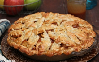 Salted Caramel Apple Pear Pie | From SugarHero.com