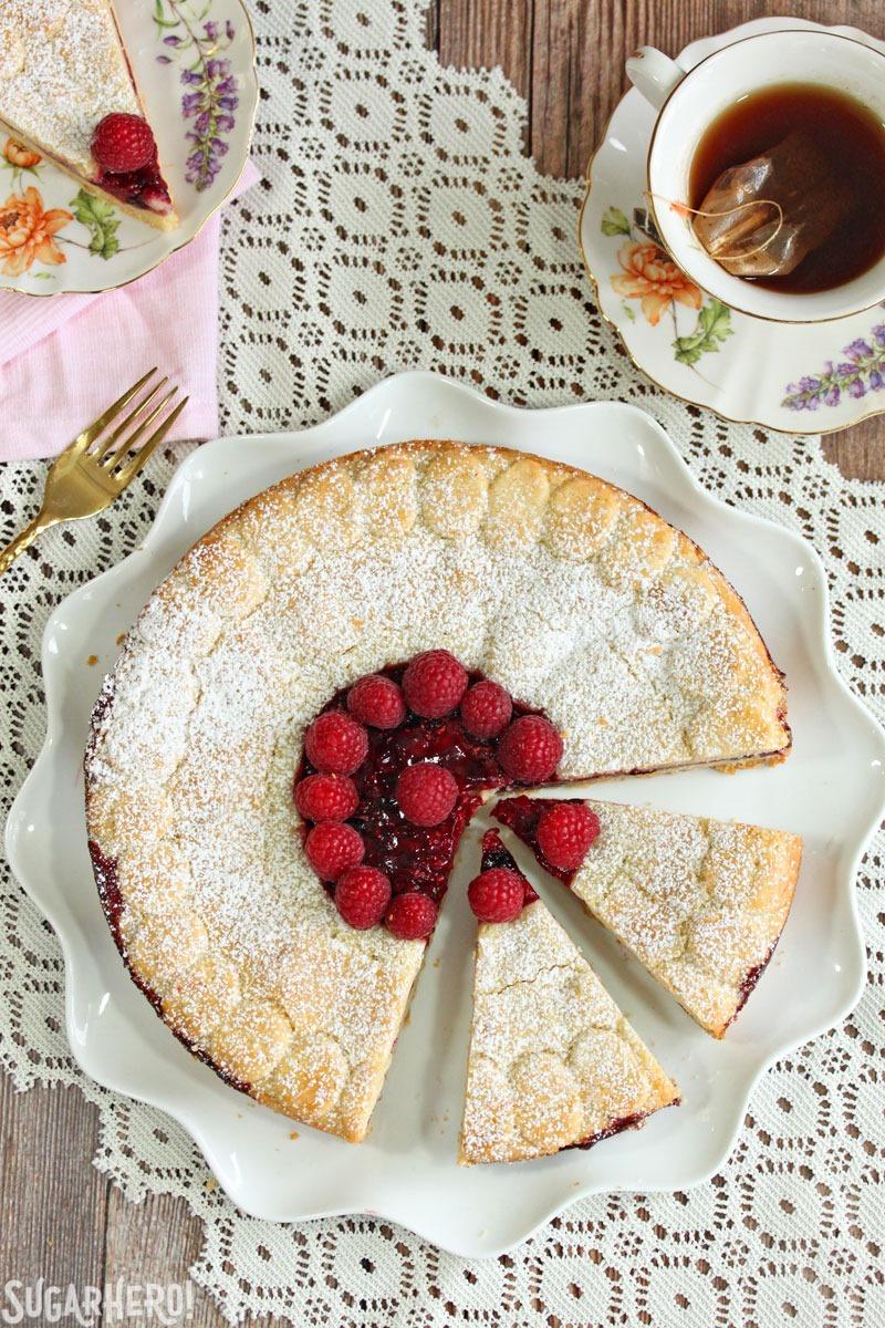 Linzer Cookie Cake | From SugarHero.com