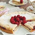 Linzer Cookie Cake