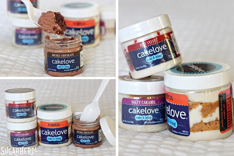 CakeLove Cake in a Jar | From SugarHero.com