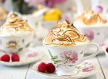 Lemon Meringue Teacup Cakes | From SugarHero.com