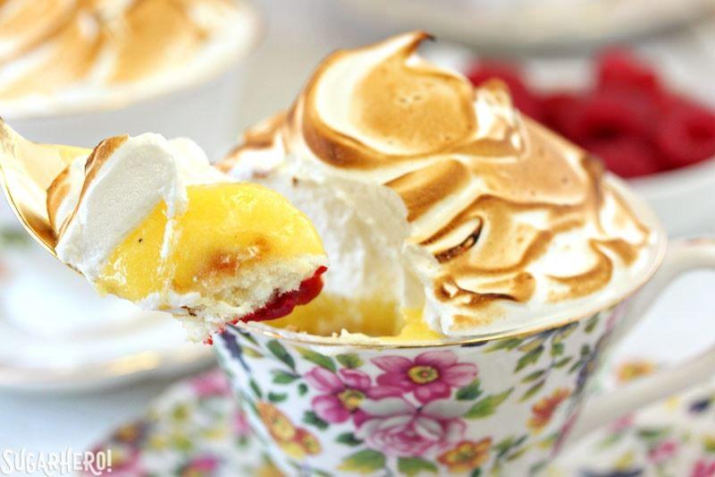 Lemon Meringue Teacup Cakes   From SugarHero.com