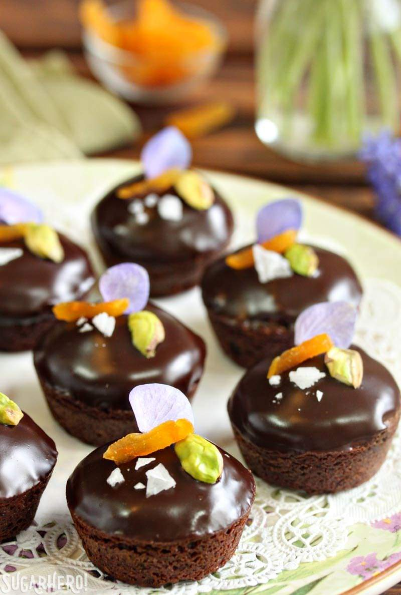 Nougat-Stuffed Brownie Bites - moist brownies filled with honey nougat ...