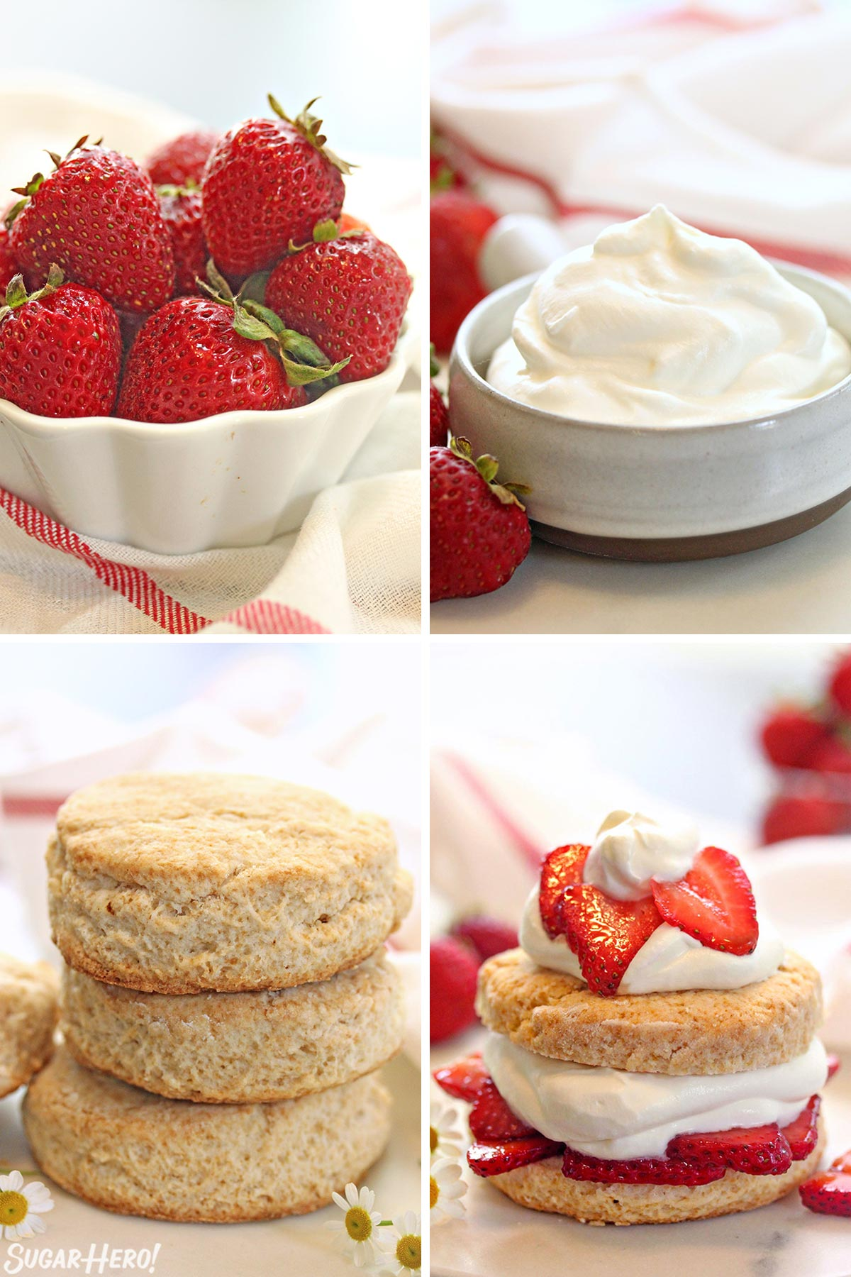 Grown-Up Strawberry Shortcake | From SugarHero.com
