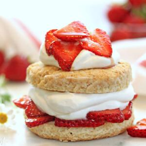 Grown-Up Strawberry Shortcakes | From SugarHero.com