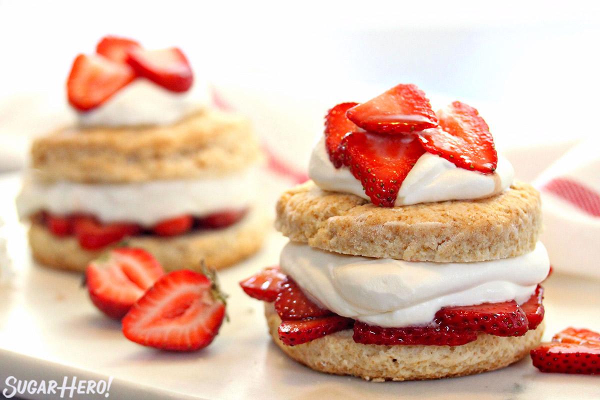 Grown-Up Strawberry Shortcake | From SugarHero.com
