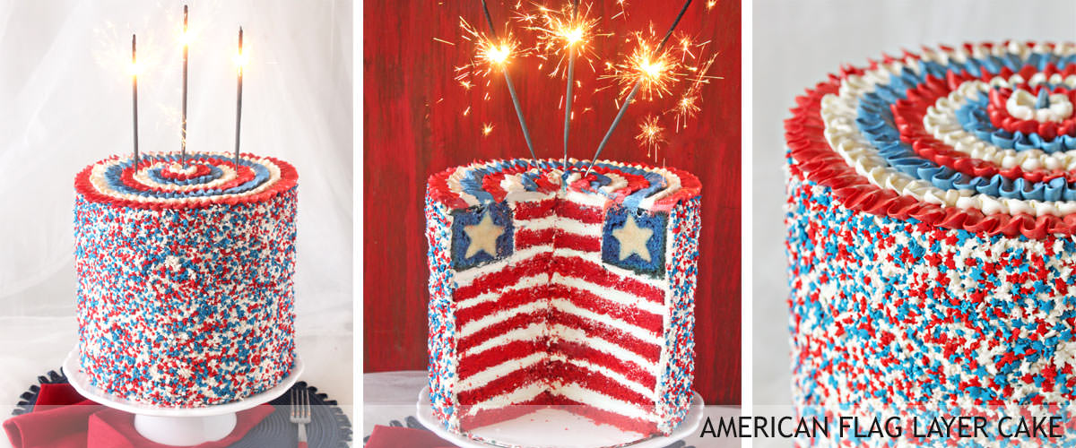 American-flag-layer-cake