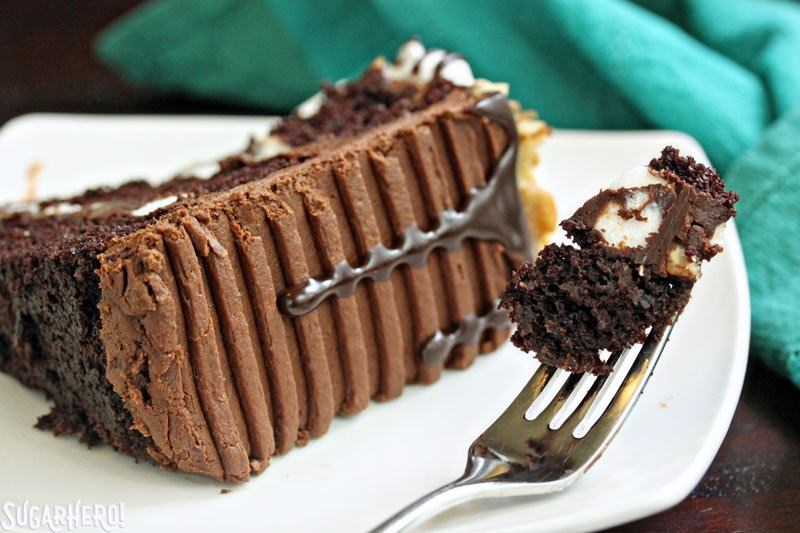 Rocky Road Layer Cake | From SugarHero.com