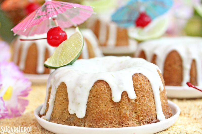 Mai Tai Bundt Cakes   From SugarHero.com