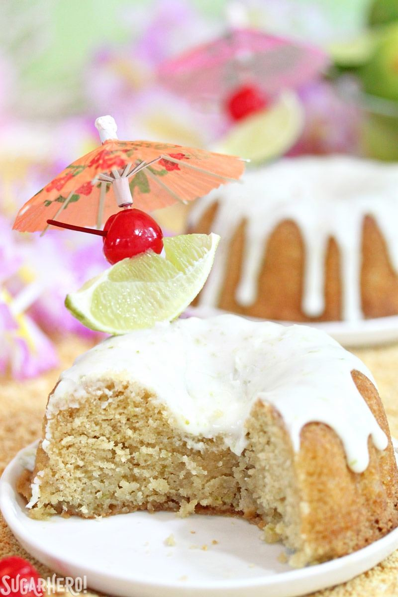 Mai Tai Bundt Cakes | From SugarHero.com