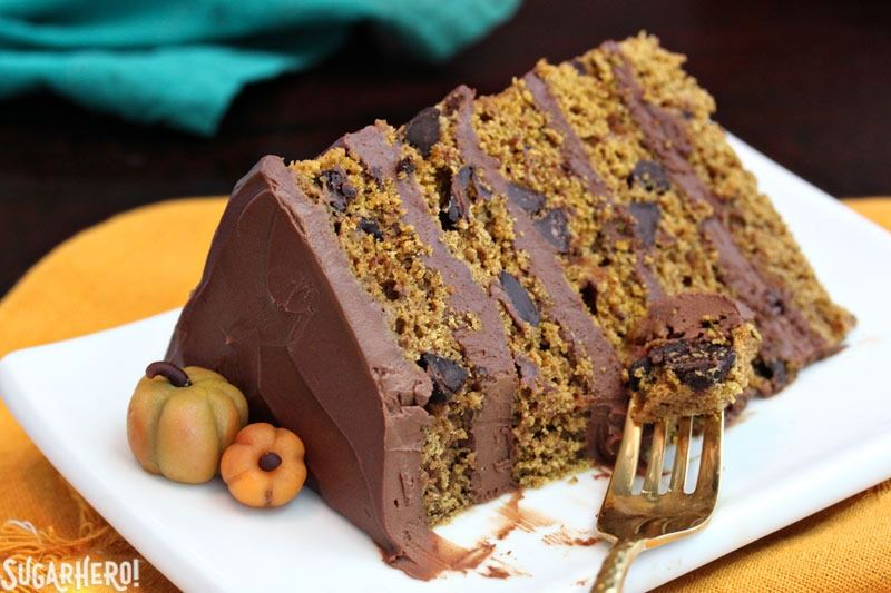pumpkin chocolate chip cake sugarhero