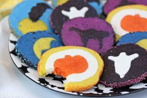 Slice and Bake Halloween Cookies | From SugarHero.com
