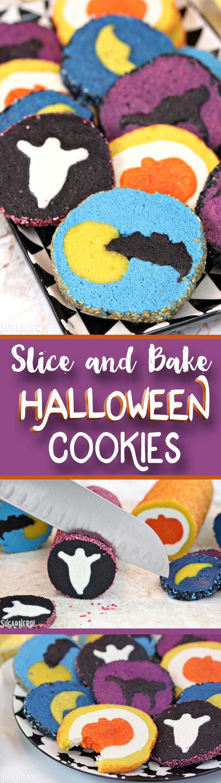 Slice and Bake Halloween Cookies | From SugarHero.com