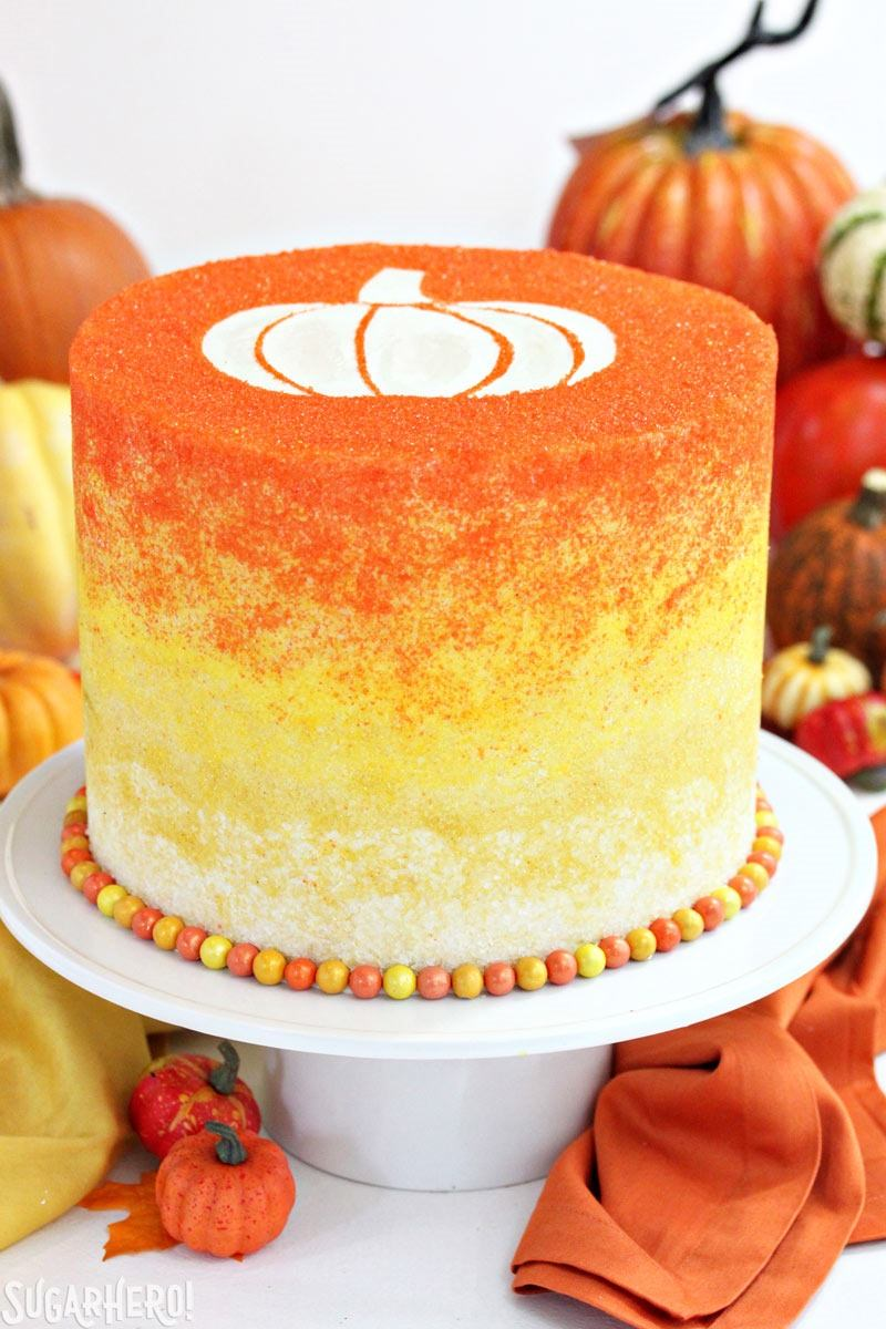 Cake Baked In A Pumpkin