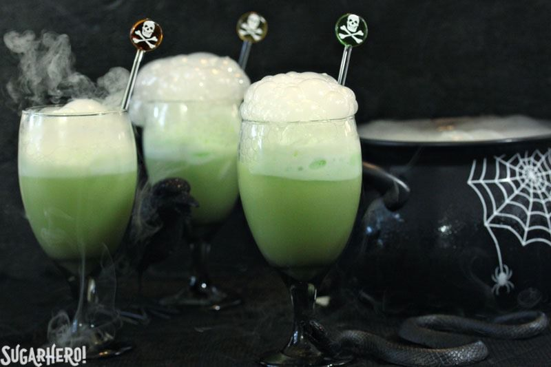 witchs brew halloween punch from sugarherocom