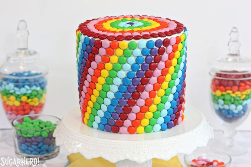 M&M's Rainbow Cake from Elizabeth LaBau's Craftsy Class