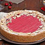 Cranberry Curd Almond Cake