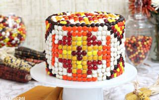 Patterned M&M Cake | From SugarHero.com