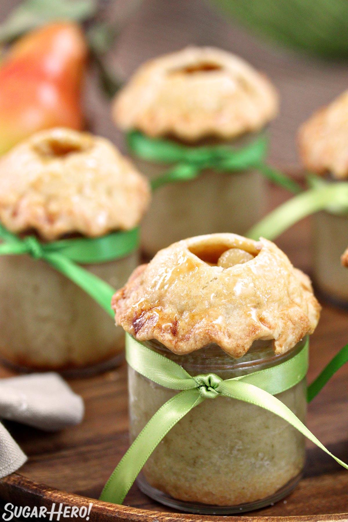 Pear Pie In A Jar   From SugarHero.com