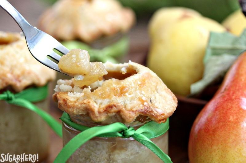 Pear Pie In A Jar | From SugarHero.com