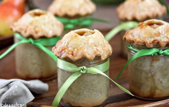 Pear Pie In A Jar | From SugarHero.com