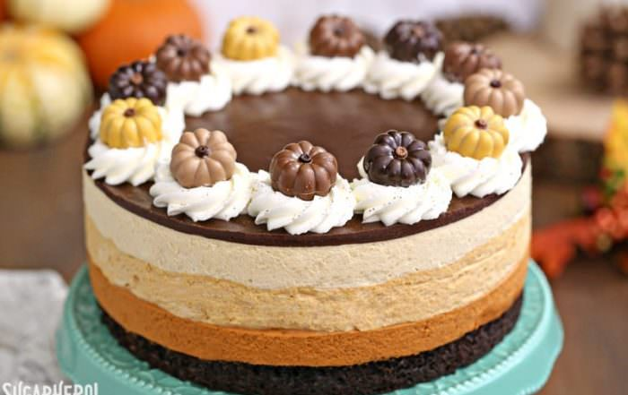 Pumpkin Chocolate Mousse Cake   From SugarHero.com
