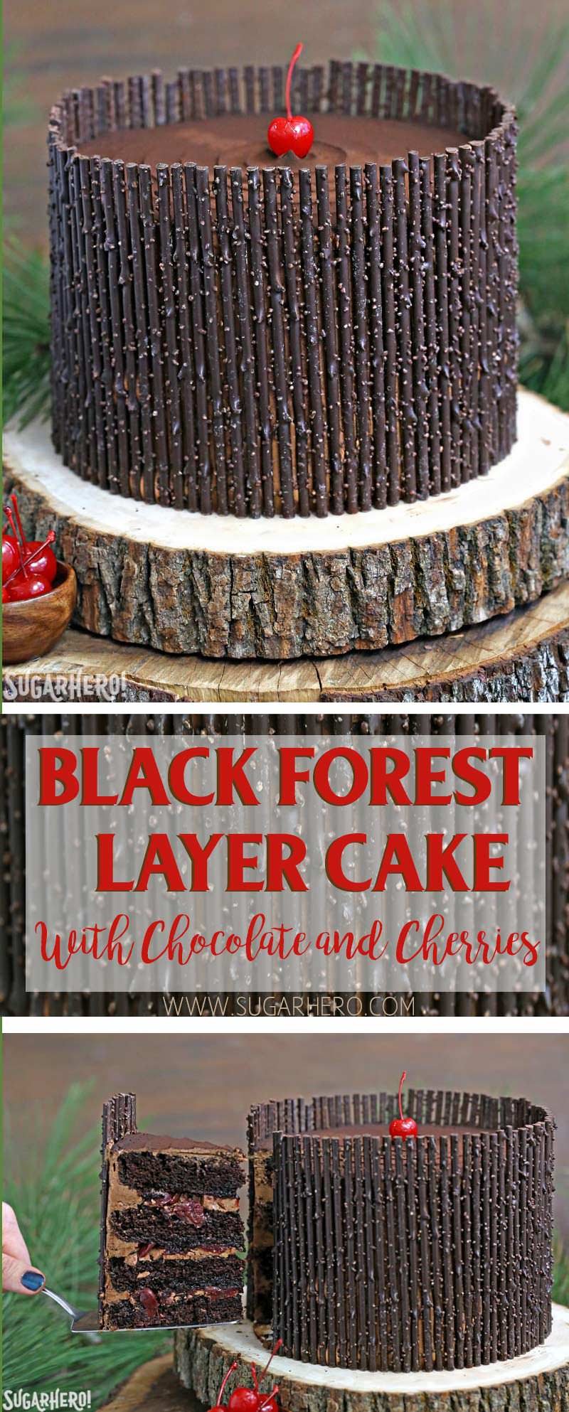 Black Forest Cake - the classic chocolate-cherry cake! Chocolate cake ...