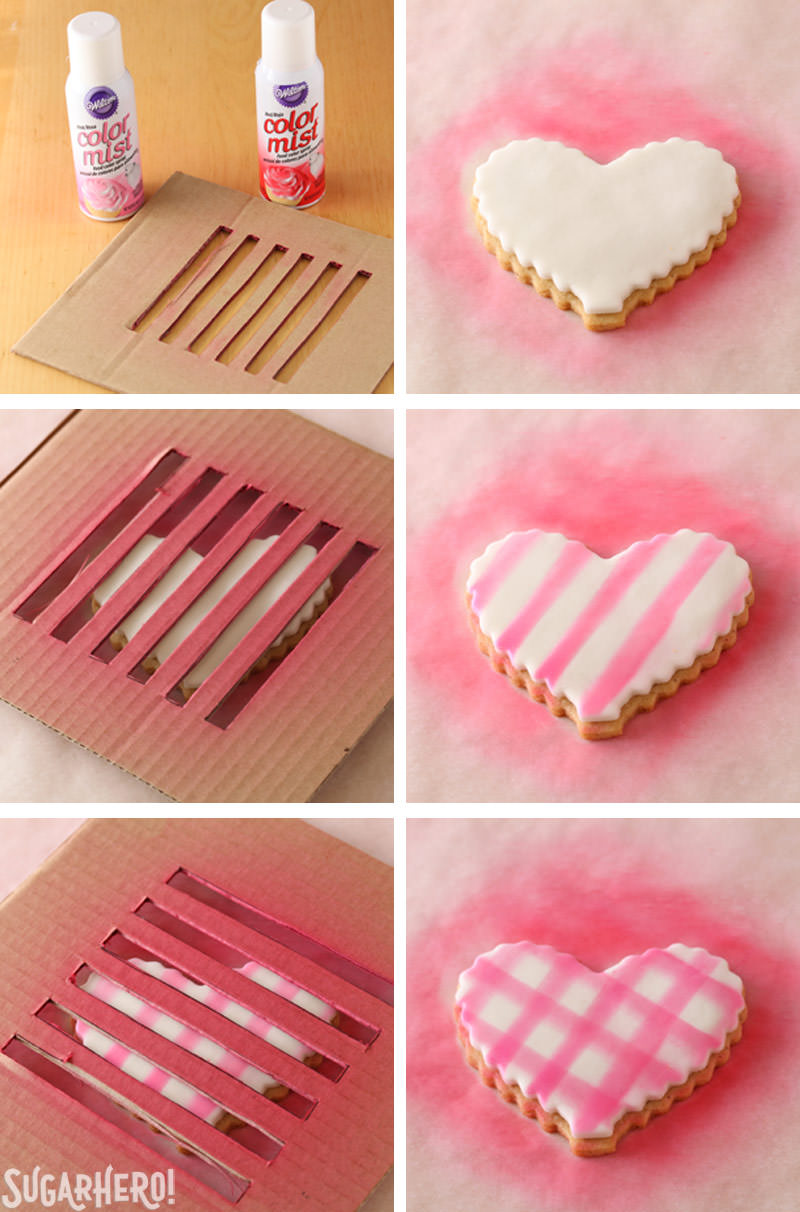 How to Make Brown Butter Heart Cookies - brown butter sugar cookies with pretty patterns for Valentine's Day! | From SugarHero.com