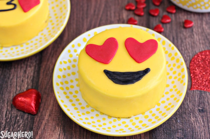 Emoji Cakes Mini Chocolate With Designs From Sugarhero Com