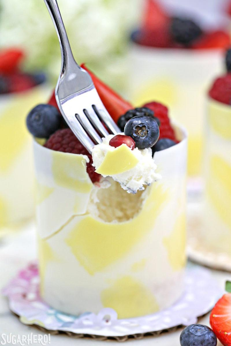 Lemon Mousse Cakes In White Chocolate Ss Gorgeous Painted