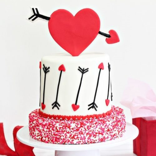 Swell Pink And Red Velvet Valentines Day Cake Sugarhero Birthday Cards Printable Riciscafe Filternl