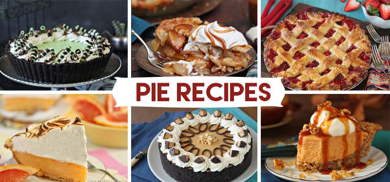 Pie and Tart recipes from SugarHero.com