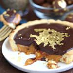 Baileys Chocolate Caramel Tarts | From SugarHero.com