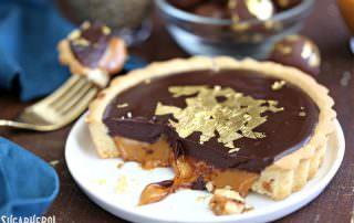 Baileys Chocolate Caramel Tarts | From SugarHero.com