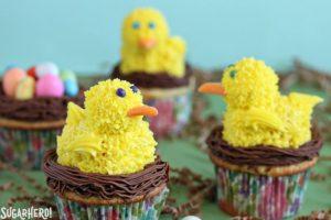Spring Chick Cupcakes   From SugarHero.com