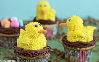 Spring Chick Cupcakes | From SugarHero.com