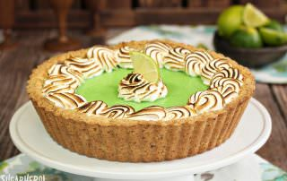 Toasted Coconut Lime Meringue Tart | From SugarHero.com