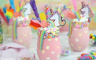 Unicorn Milkshakes | From SugarHero.com