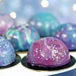 Galaxy Mousse Cakes | From SugarHero.com