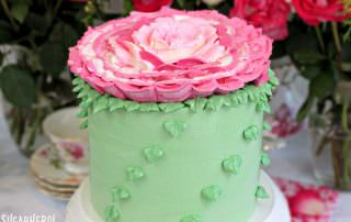 Giant Rose Cake | From SugarHero.com
