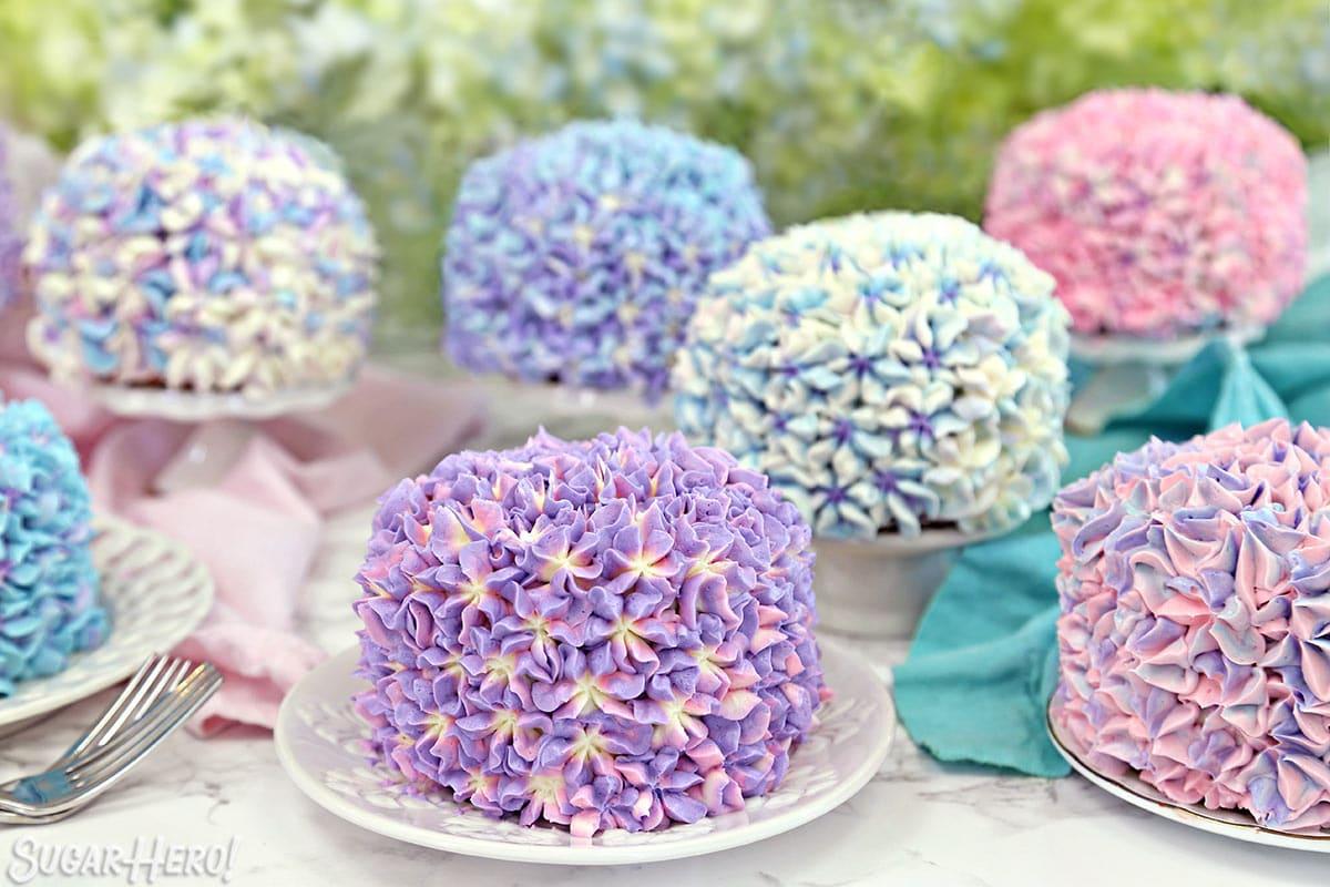 Hydrangea Cakes SugarHero