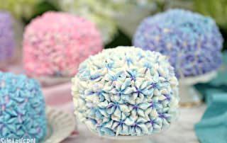 Hydrangea Cakes | From SugarHero.com